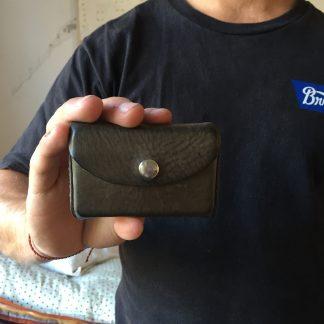 leren portemonnee, pasjes portemonnee, handgemaakte leren portemonnee